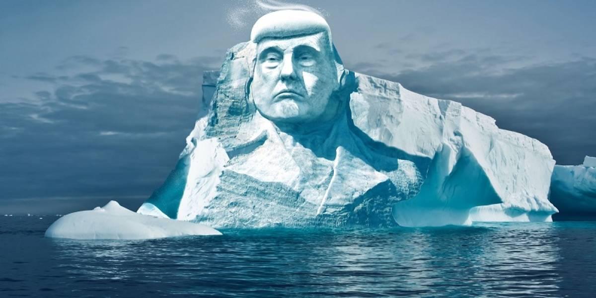 Ecologistas quieren esculpir cara de Trump en un glaciar
