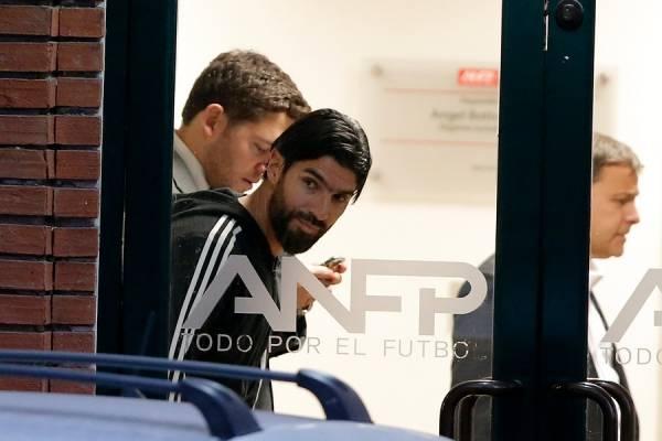 Abreu pudo ir a la sede de la ANFP ya que no viajó a Brasil con sus compañeros para el duelo ante Botafogo / Foto: Photosport