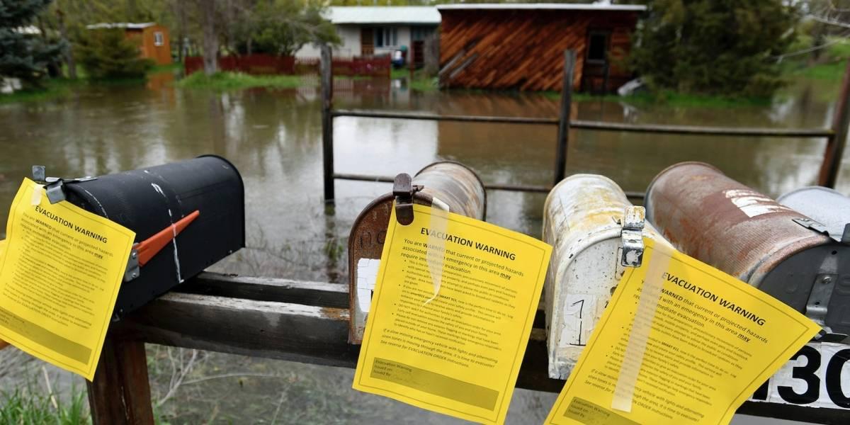 Vecindario de Montana queda sumergido por inundaciones