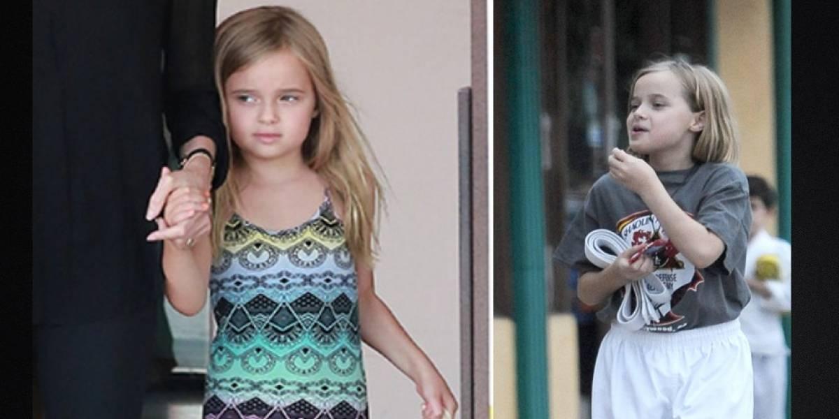 Fotos que muestran transición de Vivienne Jolie Pitt de usar vestidos a un estilo andrógino