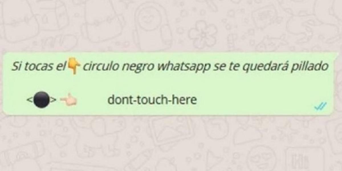 ¡Cuidado con el círculo negro de whatsapp! la broma en la que no quieres caer