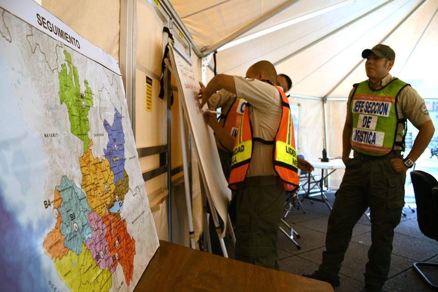 Elementos de la UEPCBJ vigilaron el desarrollo del simulacro en diversos puntos del estado. FOTO: Cortesía