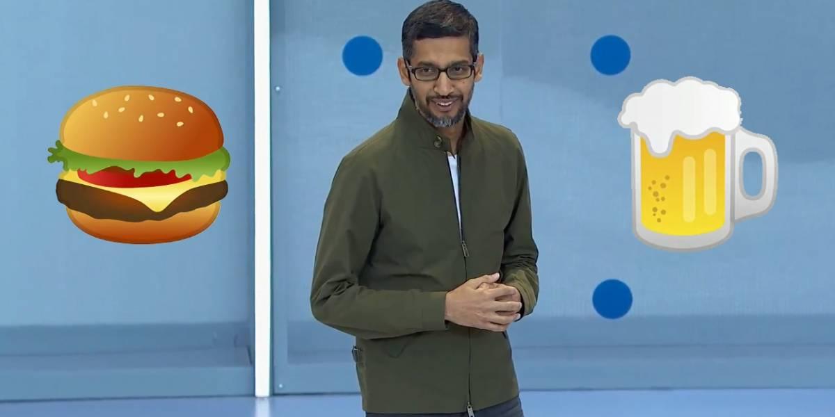 Google presenta los nuevos emojis de hamburguesa y cerveza