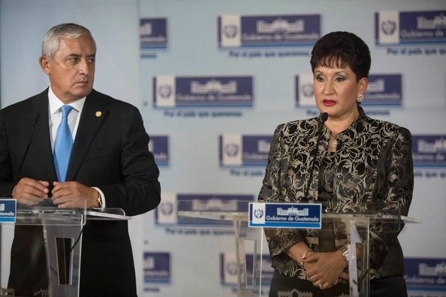 Otto Pérez Molina y Thelma Aldana