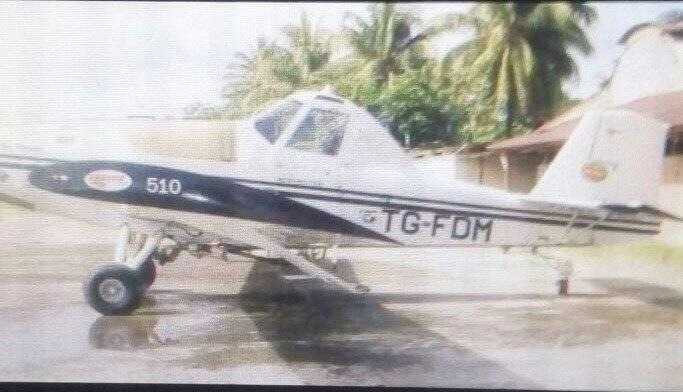 avioneta accidentada en Izabal