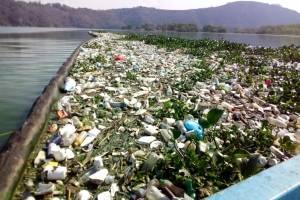 Biobarda contiene basura lago de Amatitlán