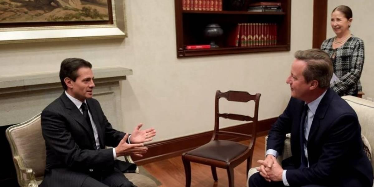 Peña Nieto se reúne con David Cameron en Los Pinos