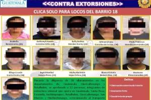 capturados en operativo contra extorsión