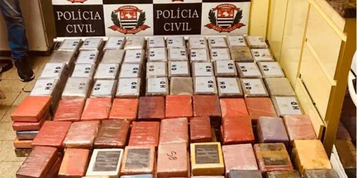 Quadrilha transportava 50 kg de cocaína em carro na Penha