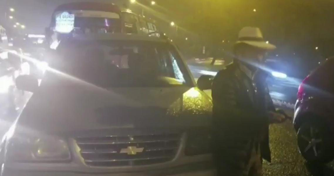 Supuesto edil de Bogotá, borracho, chocó su carro y huyó