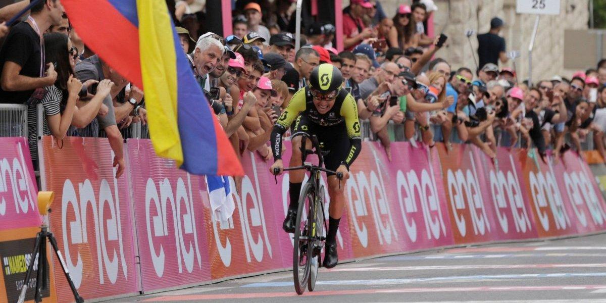Reina del Giro: tremendo resultado para los colombianos en el Gran Sasso