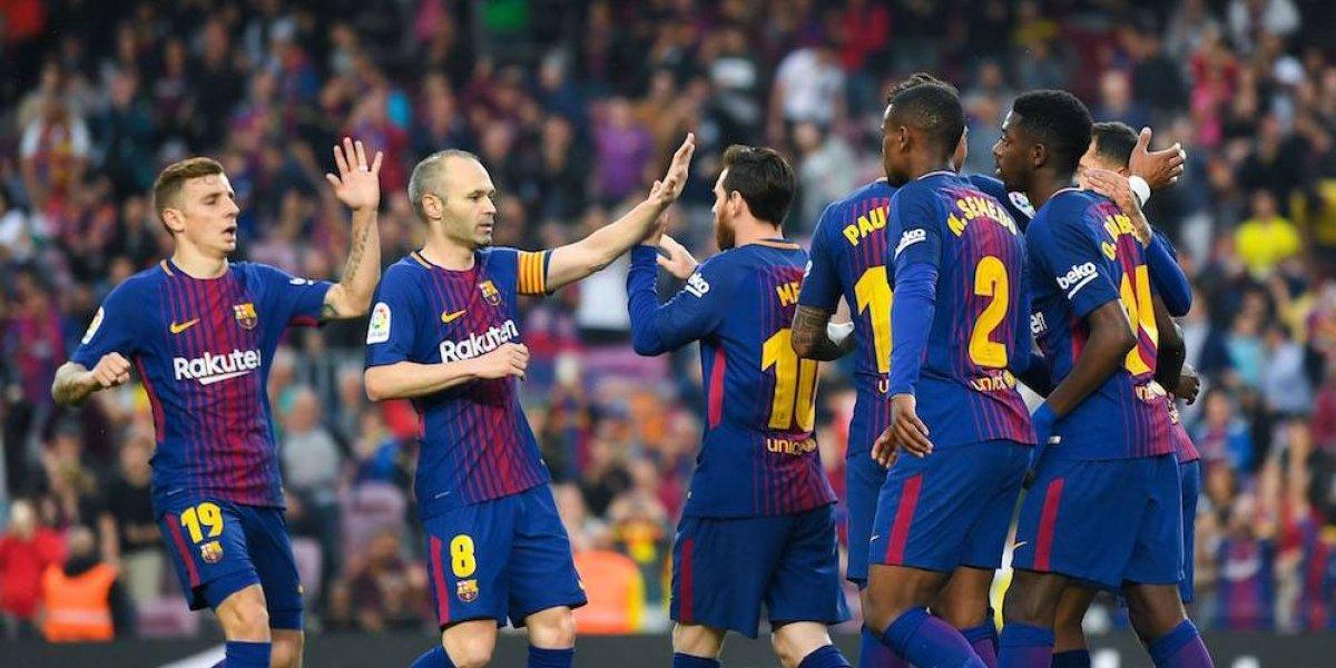 Barcelona mantiene su invicto con goleada sobre el Villarreal
