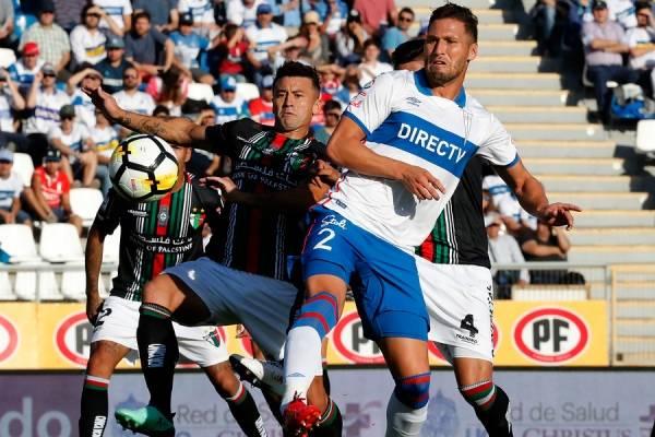 Germán Lanaro suma 857 minutos en el Campeonato Nacional 2018, siendo el defensa más utilizado por Beñat en la UC / Foto: Photosport