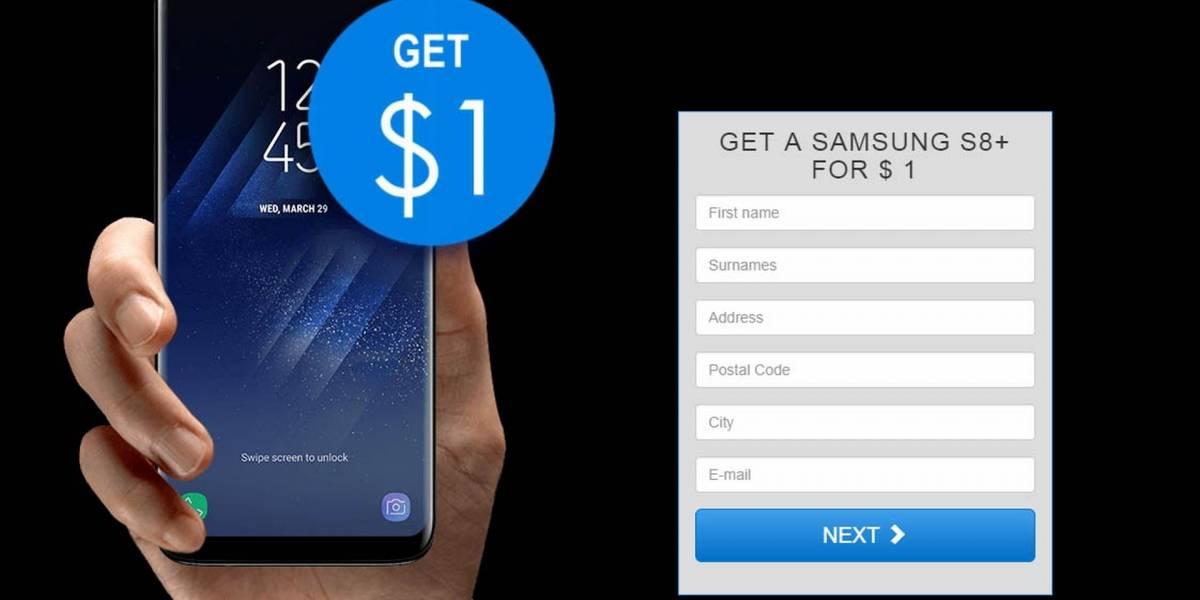¿Un Samsung S8 Plus por un dólar? Cuidado, es una nueva estafa vía Google