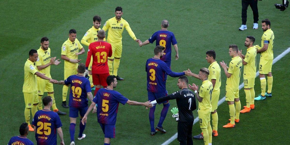VIDEO. El Villarreal sí le hace el pasillo al Barcelona