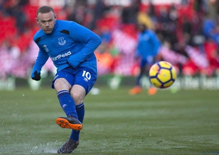 Rooney durante un calentamiento