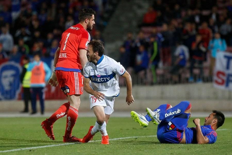 El Chapa Fuenzalida le ha marcado en 4 ocasiones a Universidad de Chile jugando por la UC / Foto: Agencia UNO