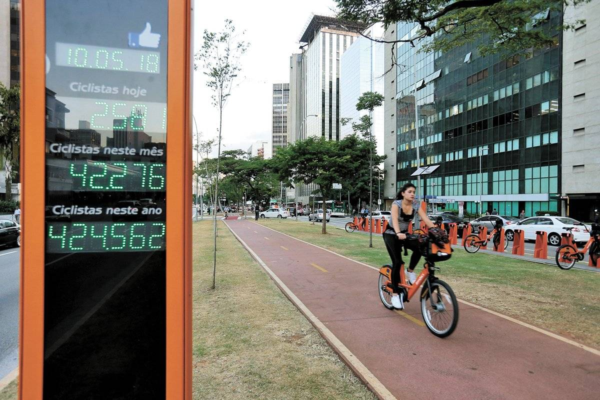 Bike bicicleta ciclovia Faria Lima