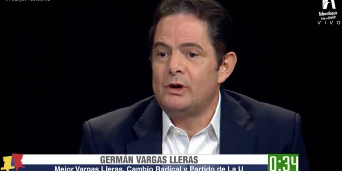 El  fuerte 'agarrón' de Vargas Lleras con la directora del debate que sacó chispas