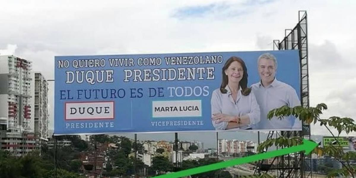Indignación por vallas con mensaje de xenofobia que apoyan a Duque — Bucaramanga