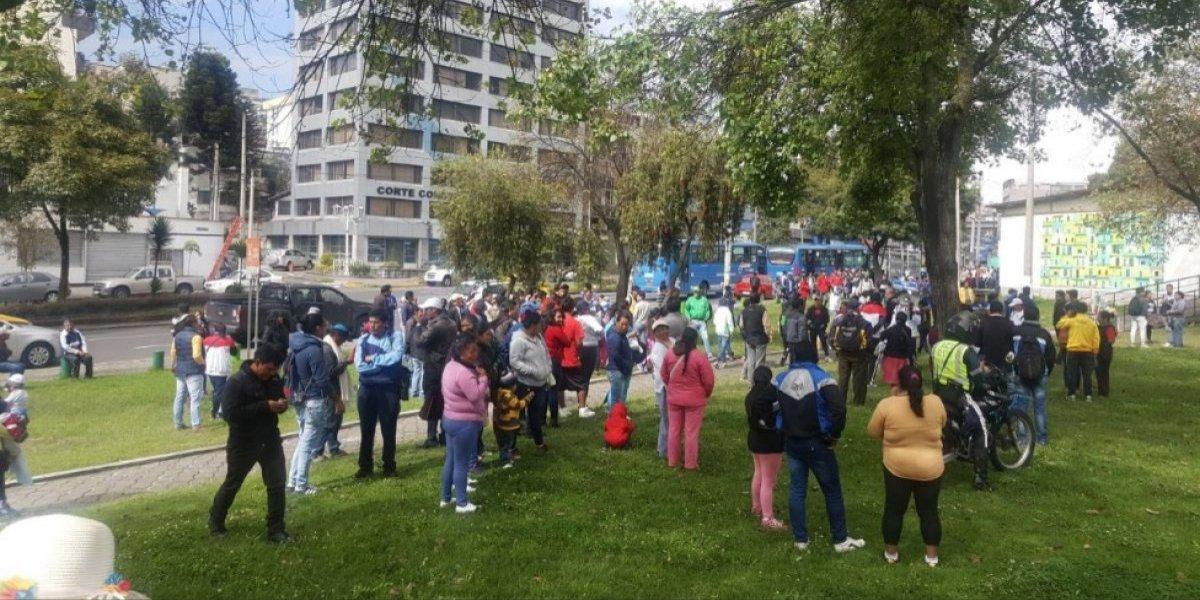 Quito: se realiza marcha de la Federación de Ligas Deportivas Barriales