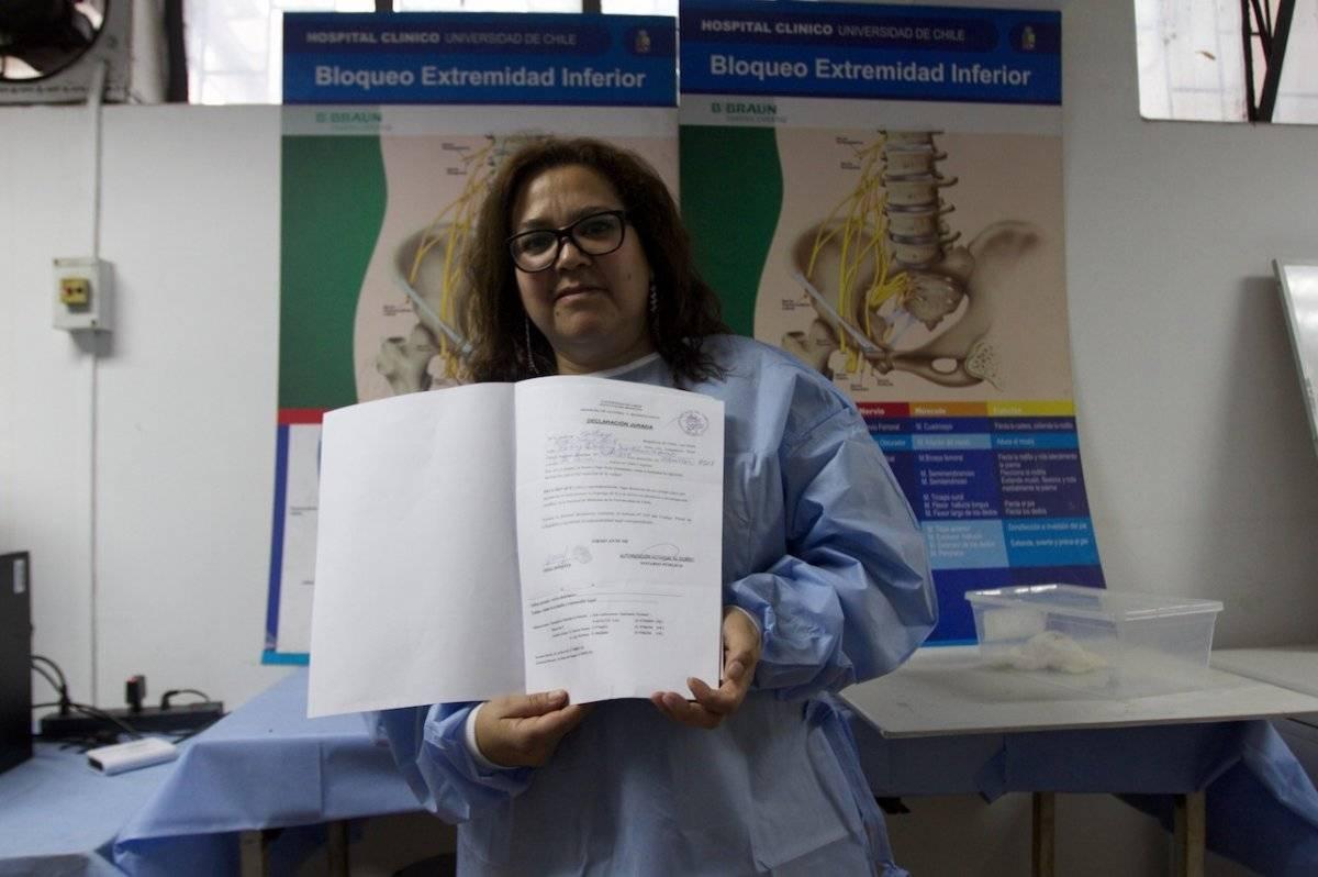Fanny Martínez es donante
