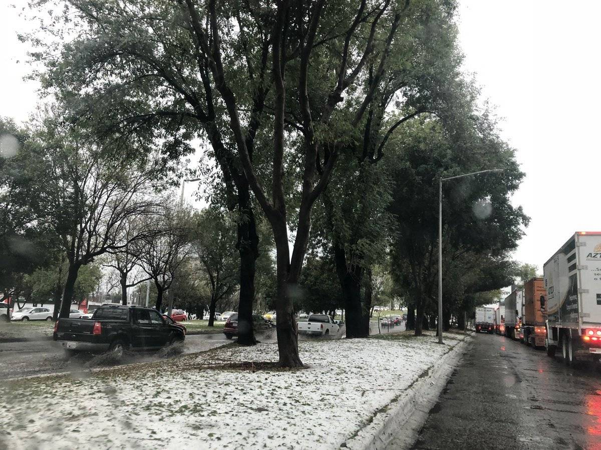 Granizada afecta varios puntos de la Zona Metropolitana de Guadalajara