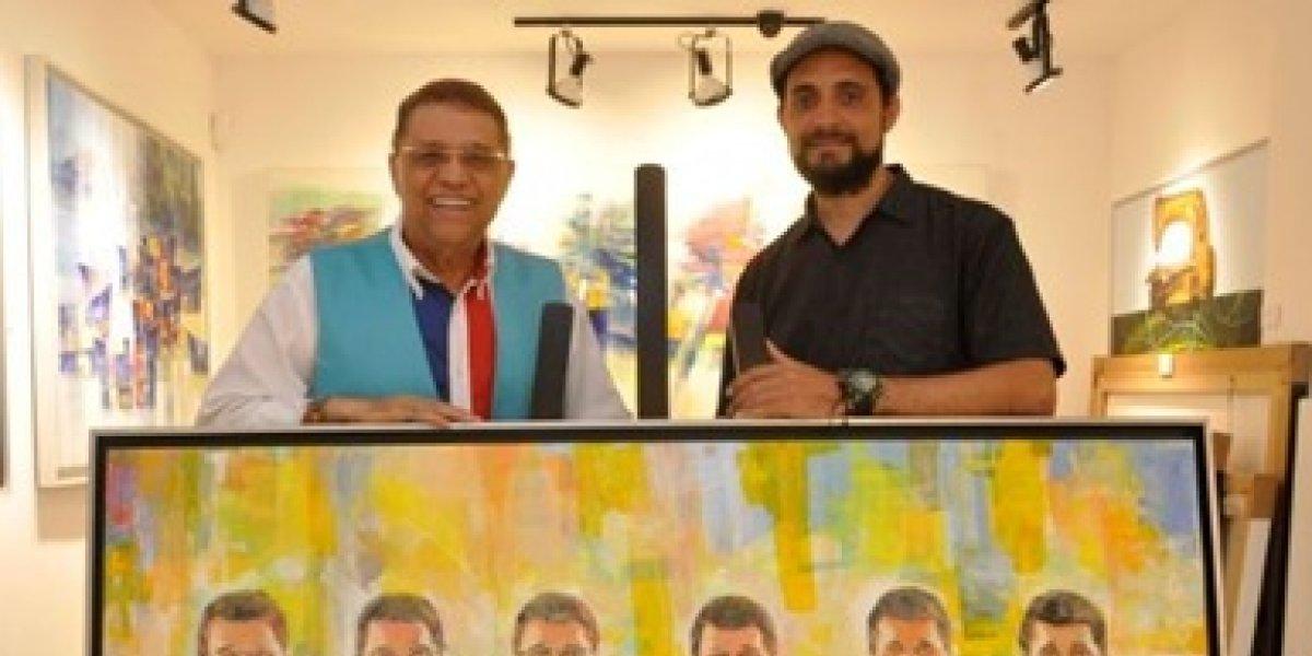 """José Pión se inspiró en """"Los colores de Domingo"""" para crear obra de arte"""