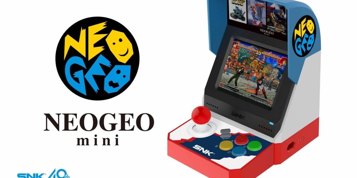 SNK anuncia la Neo Geo Mini, una arcade en miniatura con 40 juegos y pantalla integrada