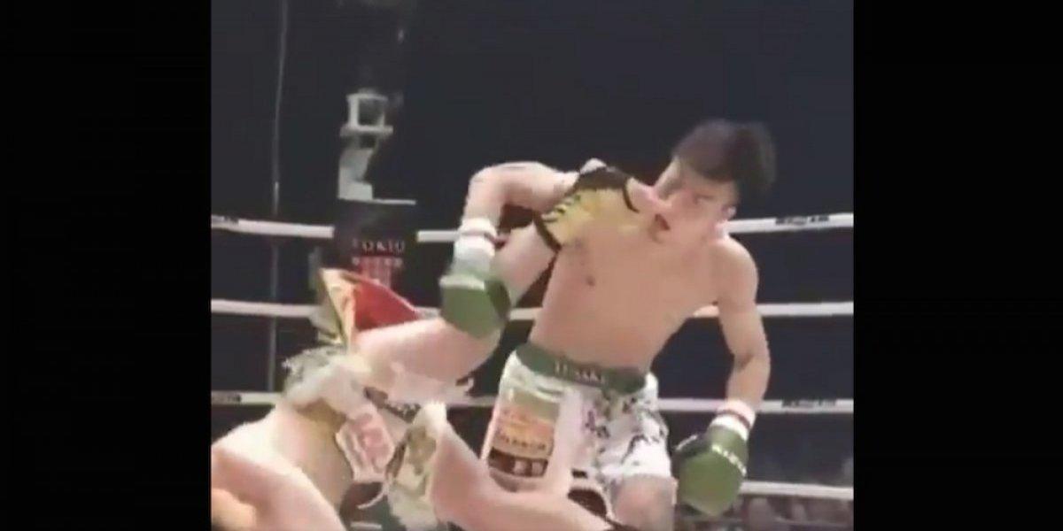 Peleador de Kickboxing sorprende al mundo con impresionante patada a su rival