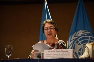 Relatora de ONU Victoria Tauli-Corpuz