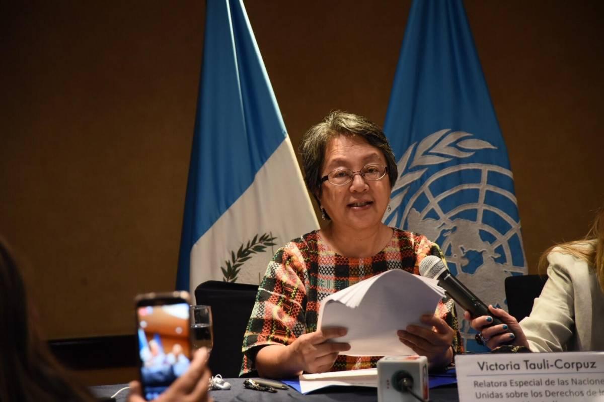 La relatora especial de la ONU sobre los derechos de los pueblos indígenas visitó Guatemala recientemente. Edwin Bercián
