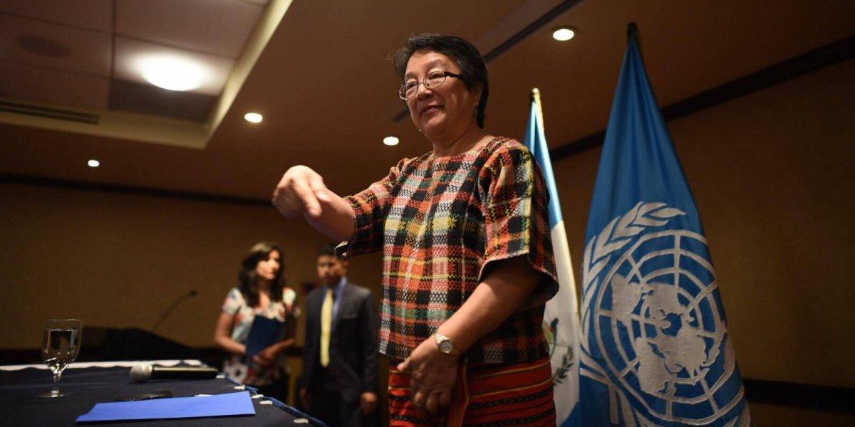 Relatora de ONU pide mejor trato para indígenas en Guatemala
