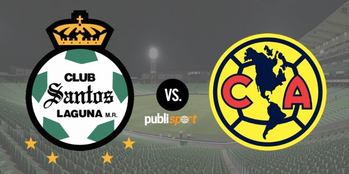 Santos golea al América en la semifinal de ida del Clausura 2018