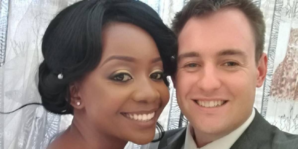 A noiva que se casou 5 dias após perder braço por causa de ataque de crocodilo
