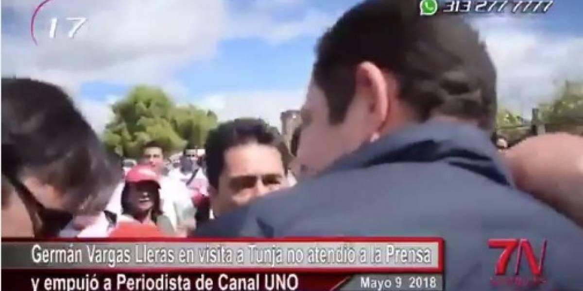 ¡Ese tal video de Vargas Lleras agrediendo a periodista no existe! es un mal entendido
