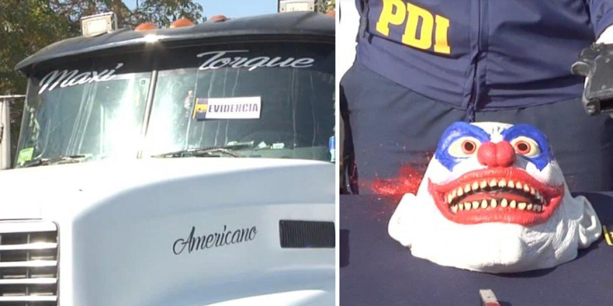 """""""Operación Optimus Prime"""" de la PDI permite detener a ladrones que usaban máscaras y transformaban su camión para robar"""