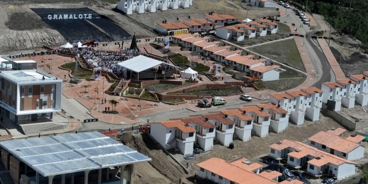 Denuncian que casas del nuevo Gramalote se convirtieron en ríos por las lluvias