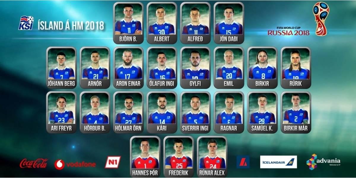 Islândia é 1ª seleção a anunciar lista de 23 jogadores para Copa