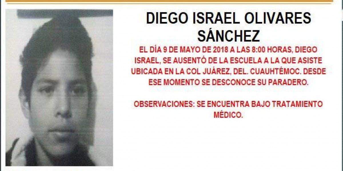 Alerta AMBER: Diego Israel Olivares Sánchez desapareció en la delegación Cuauhtémoc