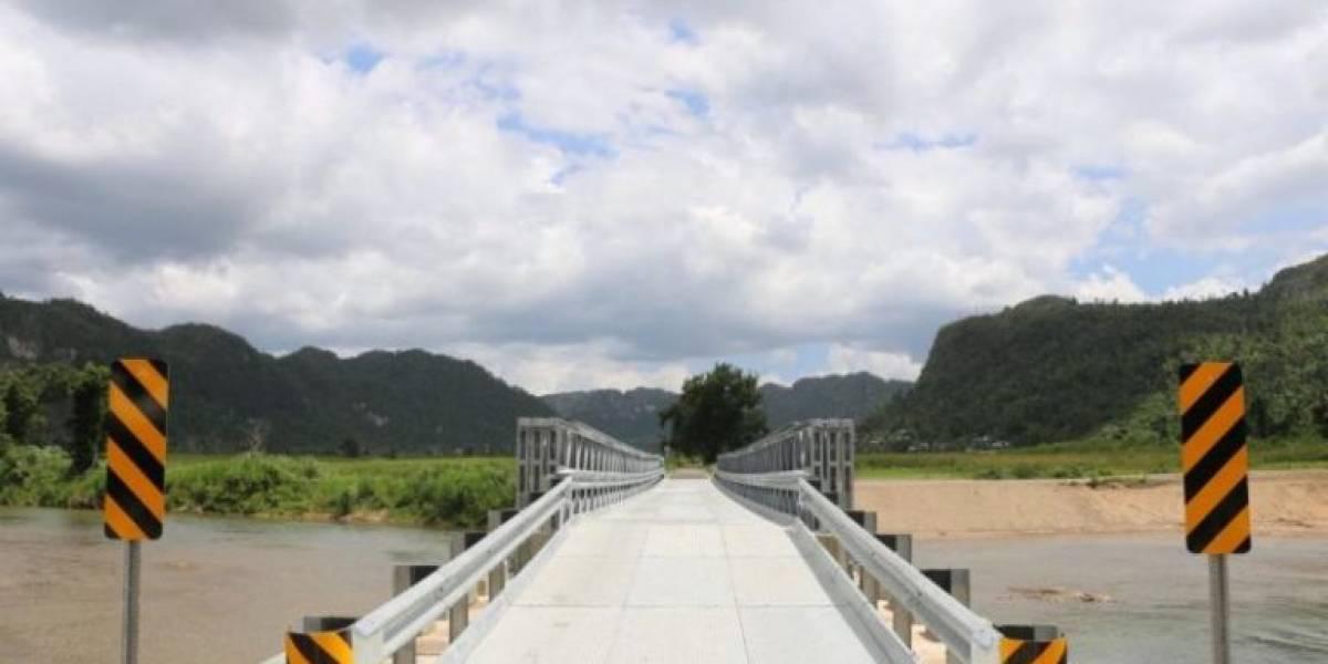 Reabre puente en Jurutungo en Arecibo