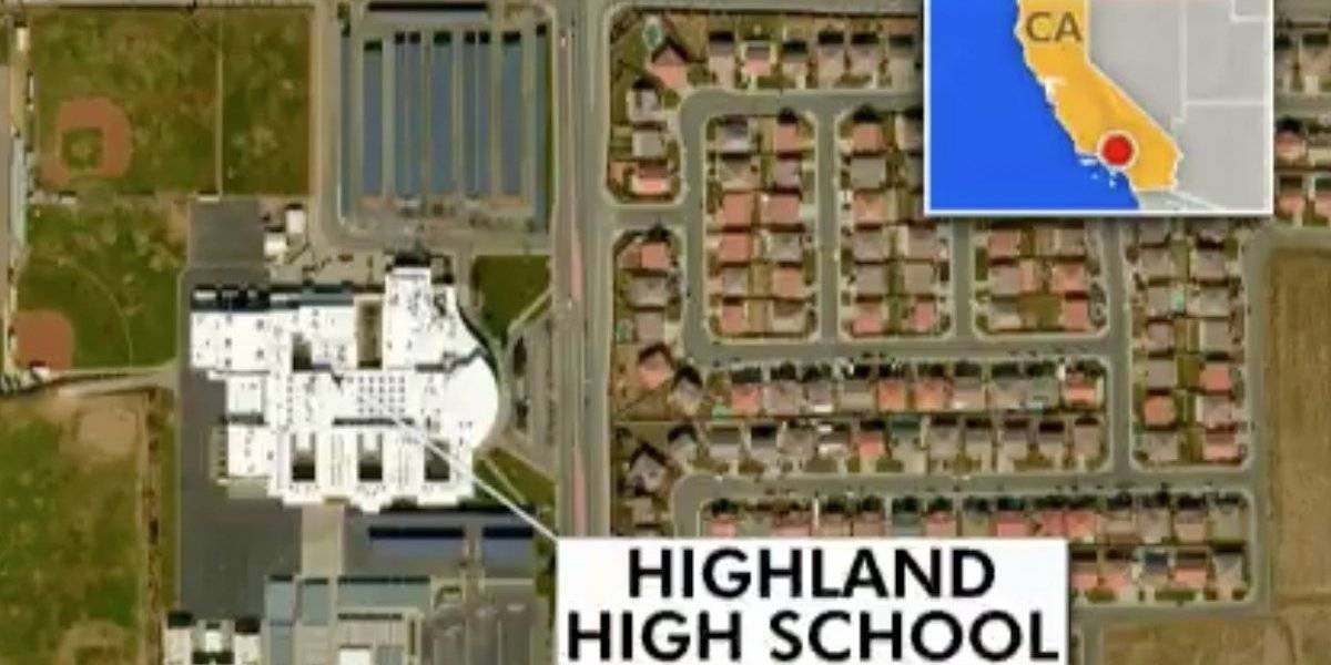 Reportan tiroteo en una escuela secundaria de California