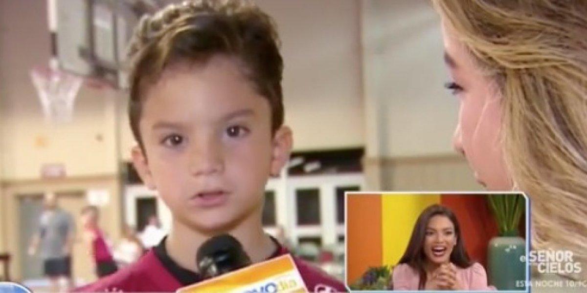Sebastián José sorprende a su madre