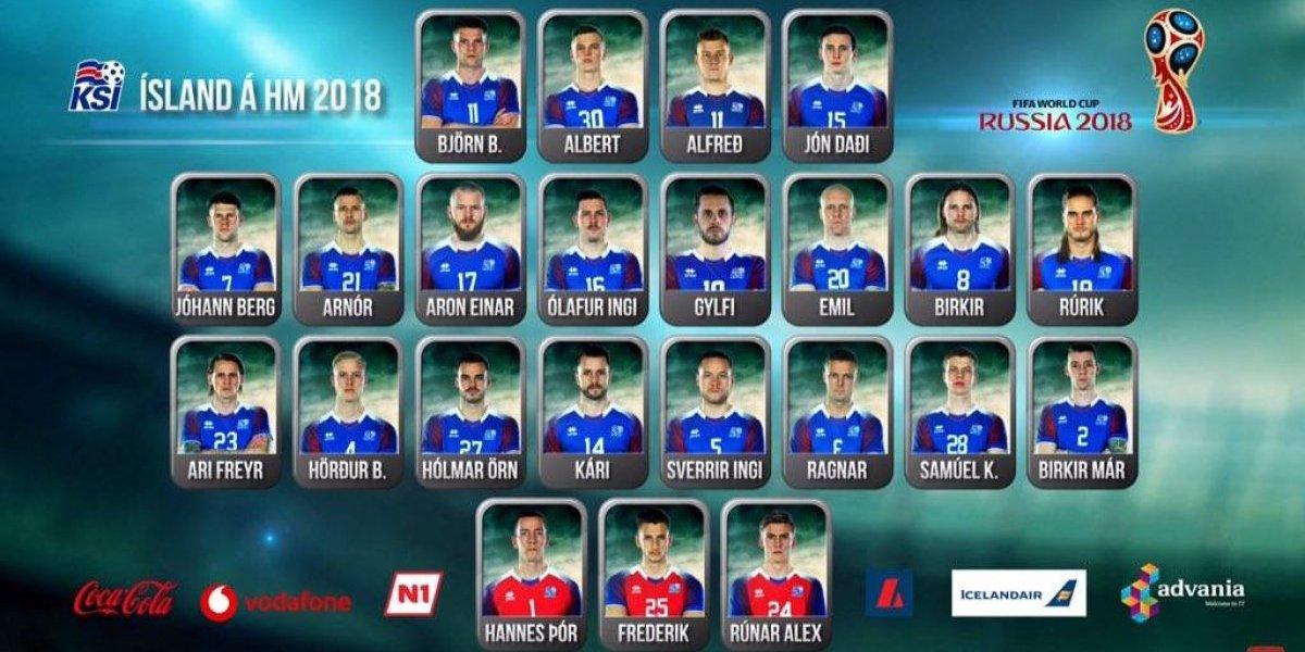 VIDEO. Islandia, el primer país en dar su lista de convocados para el Mundial