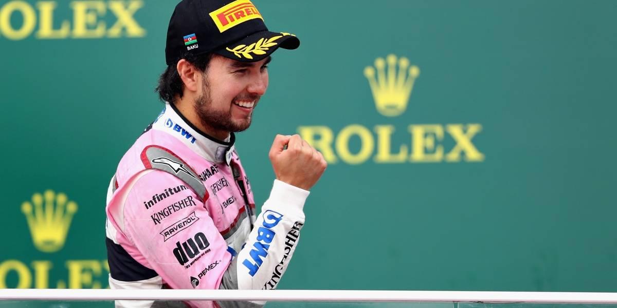Sergio Pérez frustrado por su clasificación al GP de España
