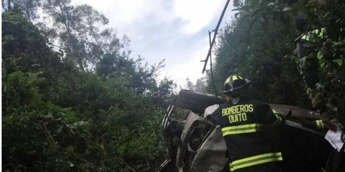 Accidente de tránsito en el sector La Bota en Mosantajos