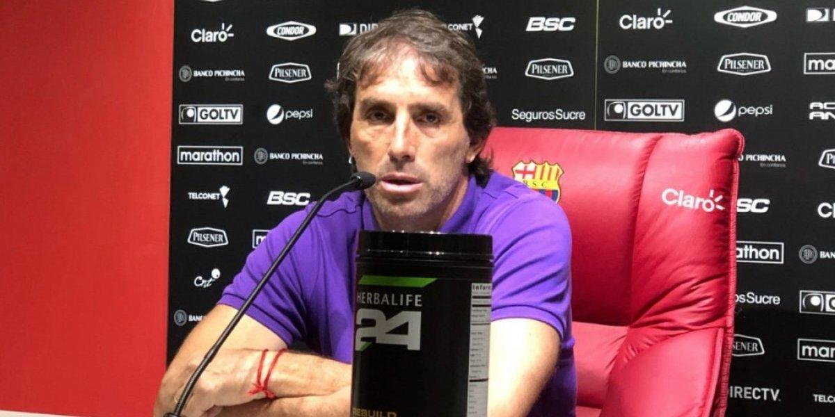 Guillermo Almada reconoció su error tras incidente con hincha de Barcelona SC