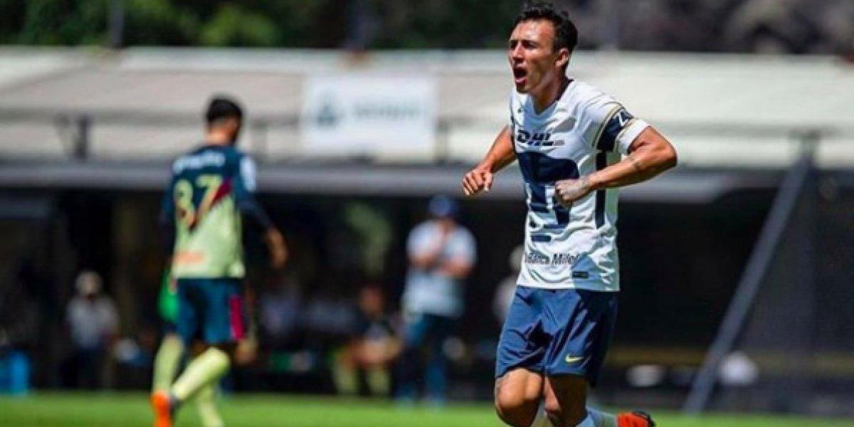VIDEO: Jugador de Pumas Sub 20 festeja gol ante América como gallina