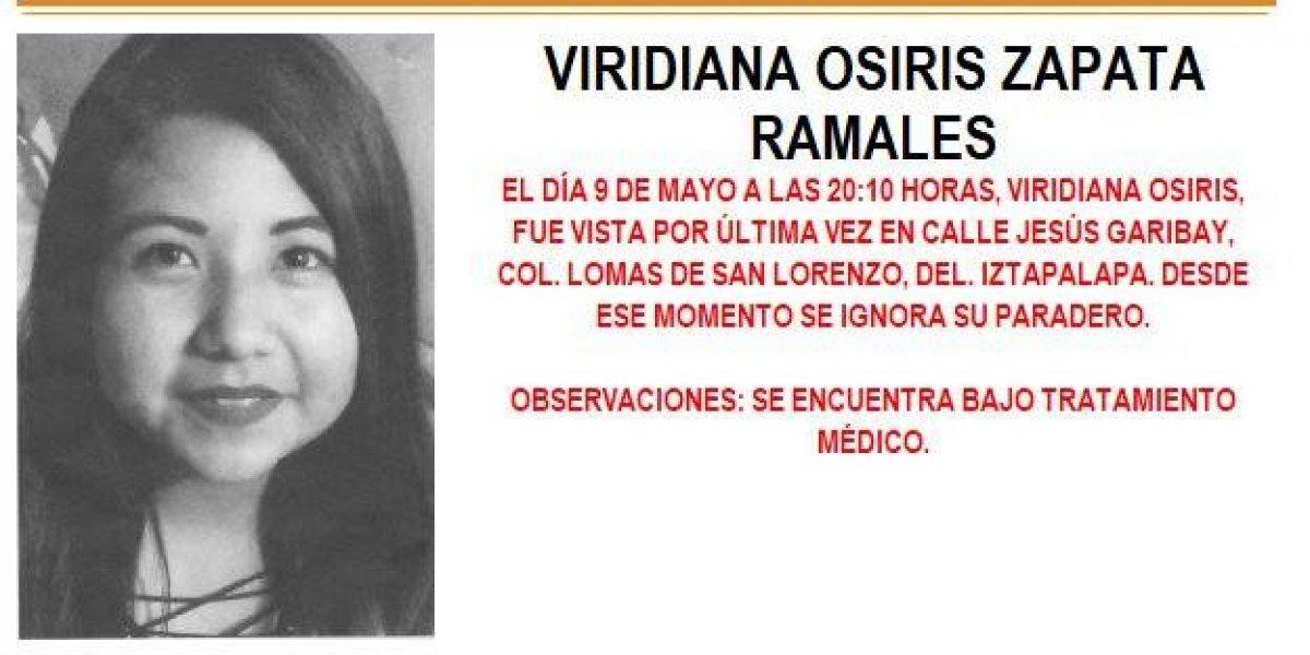 Alerta AMBER: Viridiana Osiris Zapata Ramales desapareció en la delegación Iztapalapa
