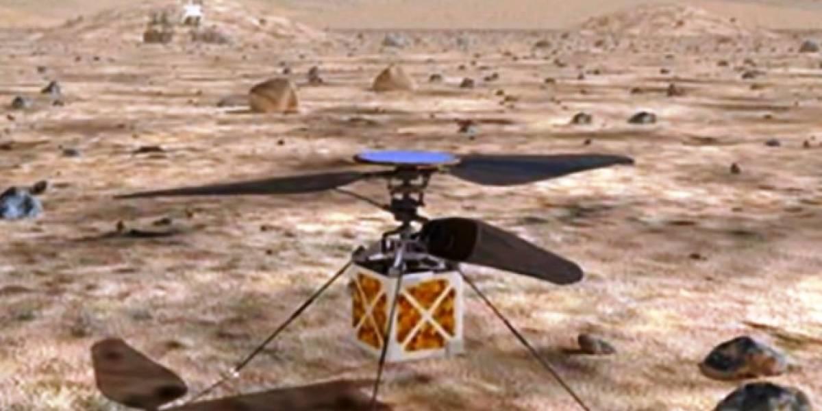 Helicóptero sobrevolará en el planeta Marte